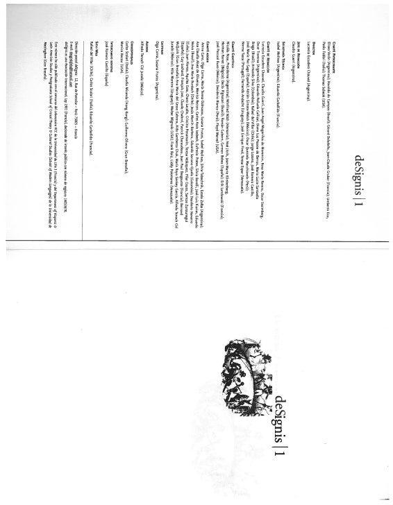 deSignis 1COMaE PATROCINANTEElisno Verón (Argentina); Haroldo do Campos (Brasil); Gerard Deledalle, Jean-Claude Crsbar )Fr...