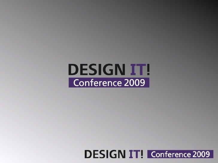 DESIGN IT! Conference 2009 - Cloud User Interface