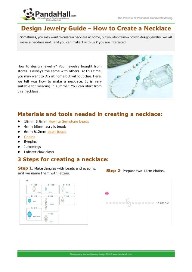 design jewelry guide how to create a necklace