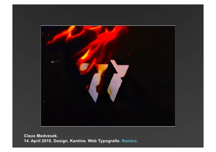 Design. Kantine. Web Typography. Namics.