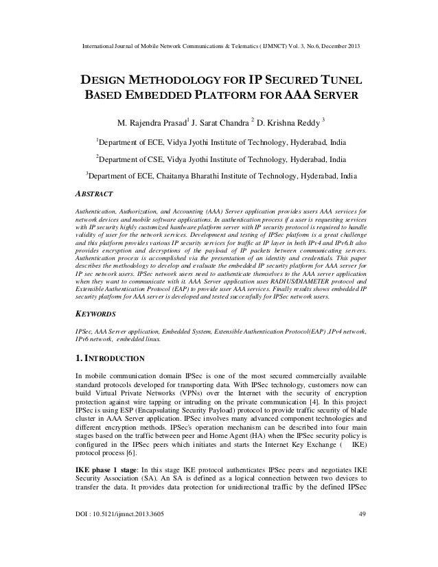 International Journal of Mobile Network Communications & Telematics ( IJMNCT) Vol. 3, No.6, December 2013  DESIGN METHODOL...