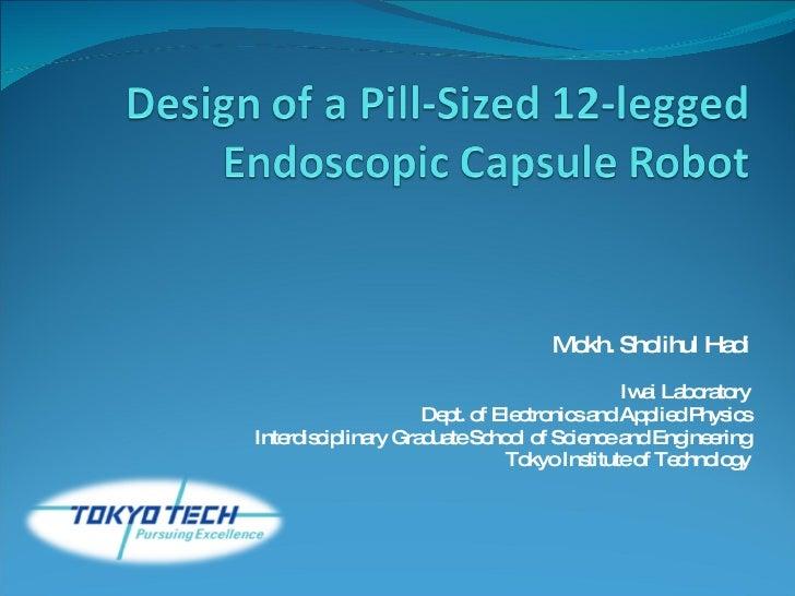 Design Of A Pill Sized 12 Legged Endoscopic Capsule Robot Hadi