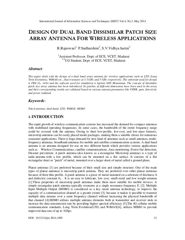 International Journal of Information Sciences and Techniques (IJIST) Vol.4, No.3, May 2014 DOI : 10.5121/ijist.2014.4305 3...