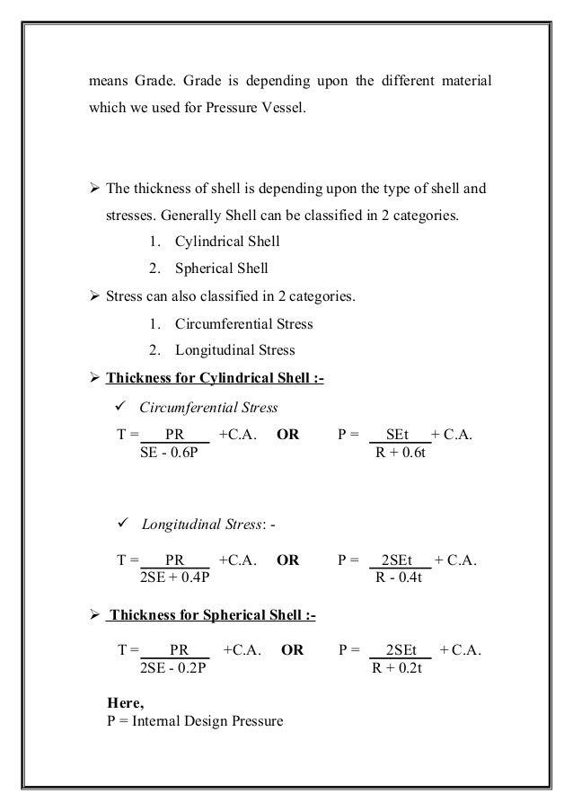 Vacuum Vessel Design Calculations Design Of Pressure