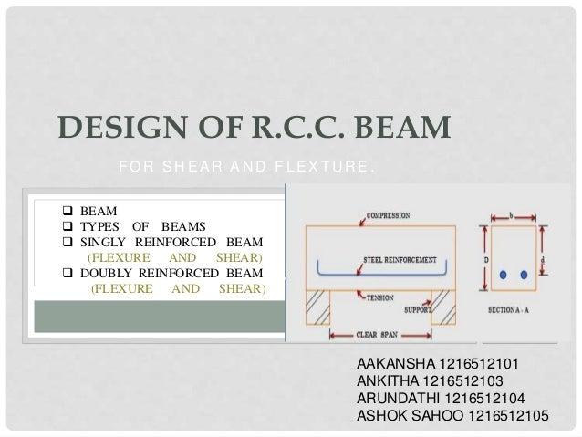Design of r c c beam for Rcc home show