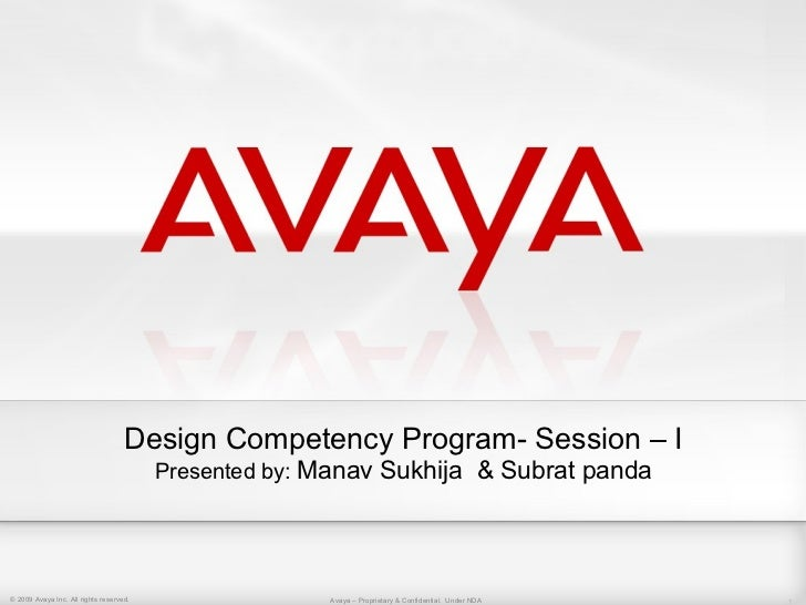 Design Competency Program- Session – I                                         Presented by: Manav Sukhija & Subrat panda©...