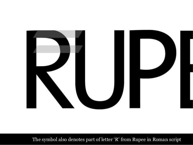 Design of the indian rupee symbol R Symbol
