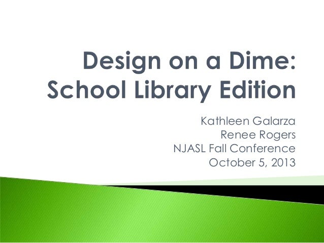 Design on a Dime: School Library Edition