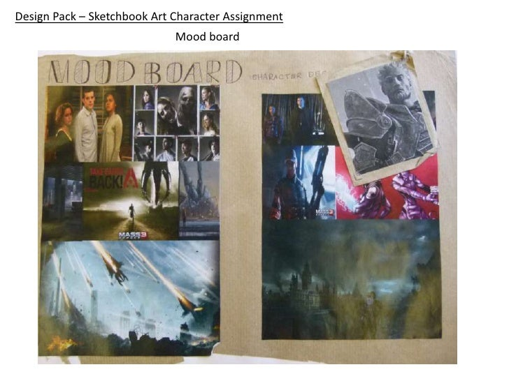 Design Pack – Sketchbook Art Character Assignment                             Mood board