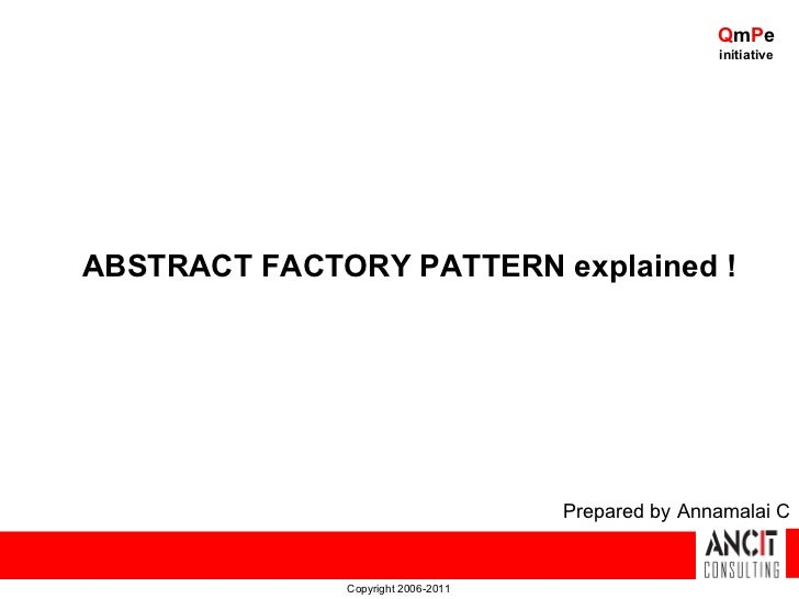 QmPe                                                   initiativeABSTRACT FACTORY PATTERN explained !                     ...