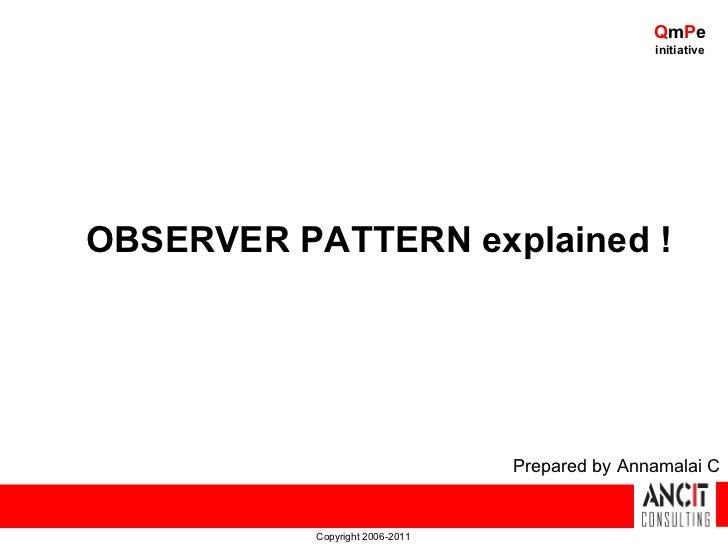Design patterns - Observer Pattern