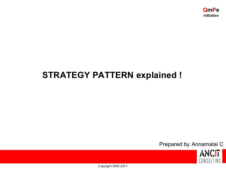 Design patterns - Strategy Pattern