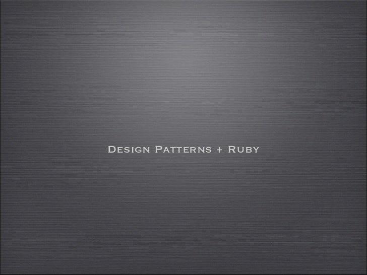 Ruby - Design patterns tdc2011