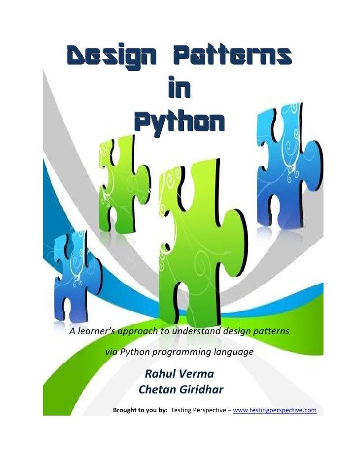 Design patterns in python v0.1
