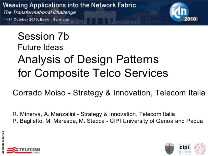 Design patterns - ICIN 2010