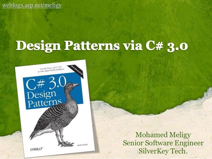 weblogs.asp.net/meligy                                 Mohamed Meligy                          Senior Software Engineer   ...
