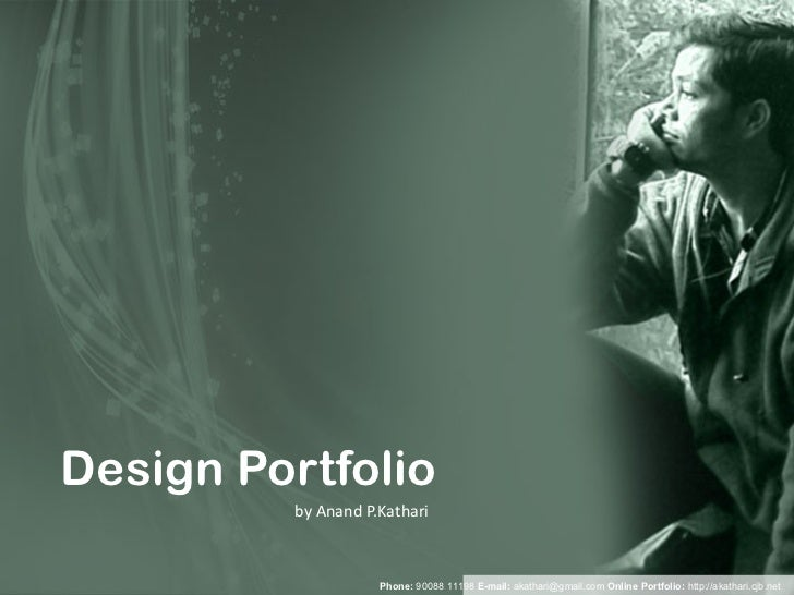 Design Portfolio by Anand P.Kathari