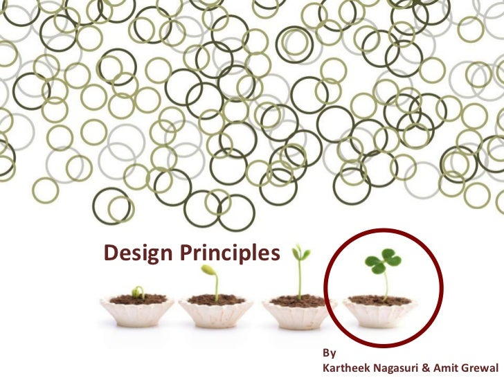 Design Principles                    By                    Kartheek Nagasuri & Amit Grewal