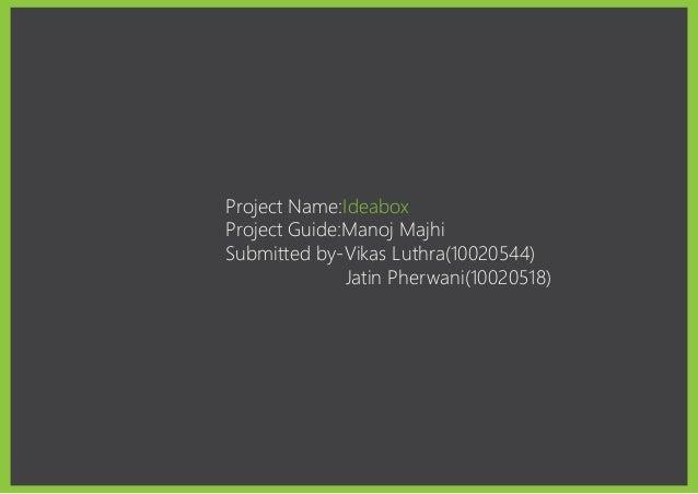 Design project 1 ideabox