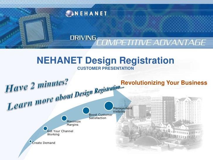 NEHANET Design Registration<br />CUSTOMER PRESENTATION<br />Revolutionizing Your Business<br />Have 2 minutes? <br />Learn...
