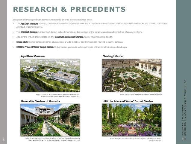 Landscape design research report for Study landscape design
