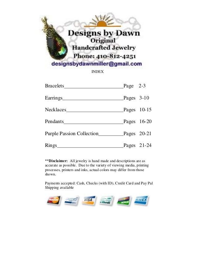 Designs by dawn brochure 5 15-2013