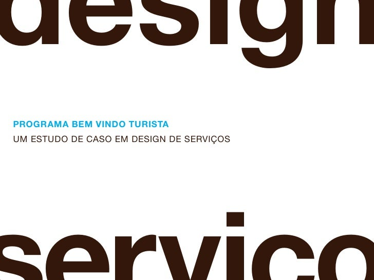 Design de Serviços - Um estudo de caso