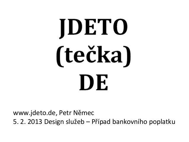 Jdeto.de: Bankovní poplatky