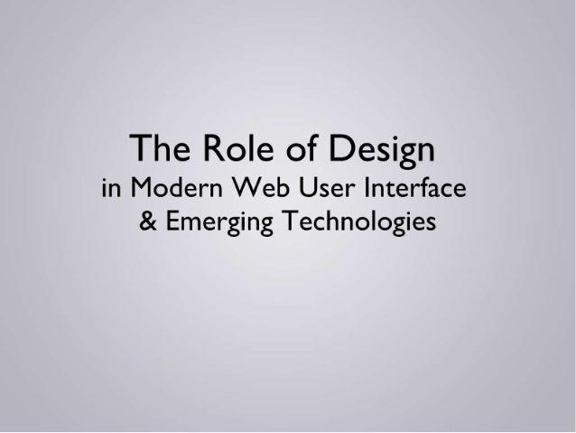 Designs role in_modern_web