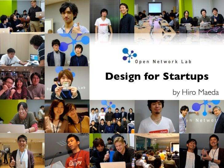 Design for Startups            by Hiro Maeda