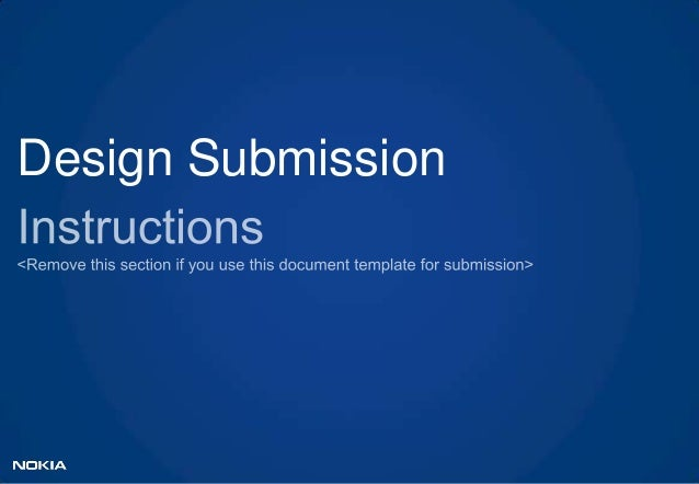 Design submission template