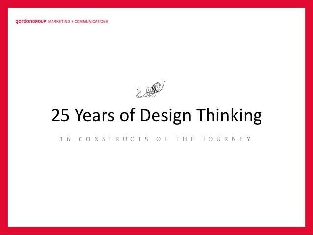 25 Years of Design Thinking 1 6   C O N S T R U C T S   O F   T H E   J O U R N E Y