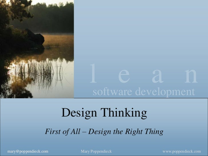 lsoftware development                                       e a n                       Design Thinking                  F...
