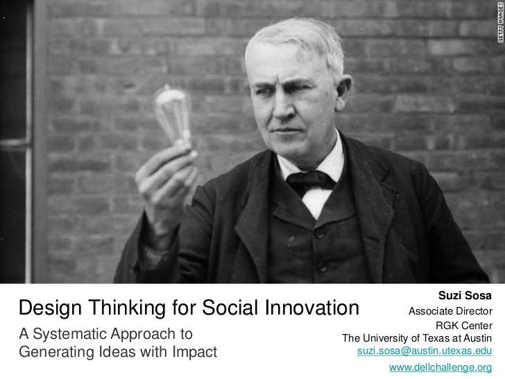 Design Thinking for Social Innovation