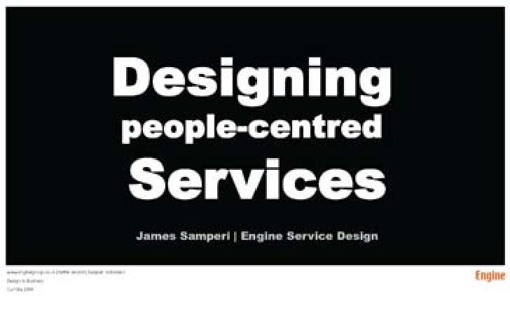 People Centred Service Design