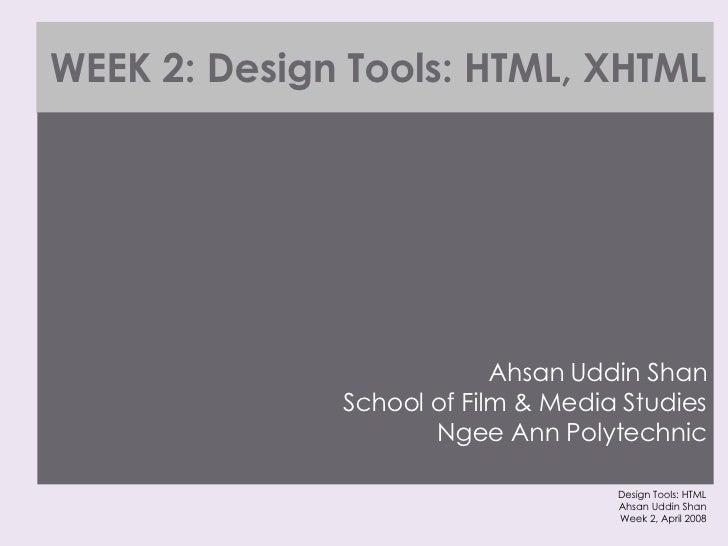 Design Tools Html Xhtml