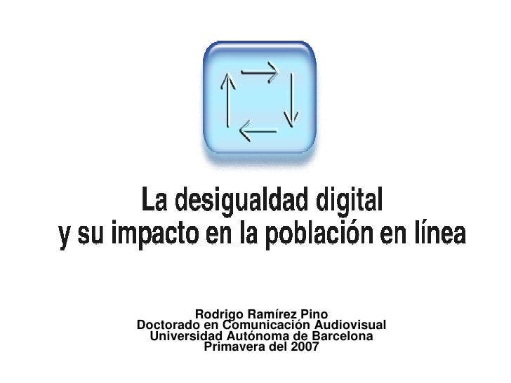 Rodrigo Ramírez Pino Doctorado en Comunicación Audiovisual Universidad Autónoma de Barcelona Primavera del 2007