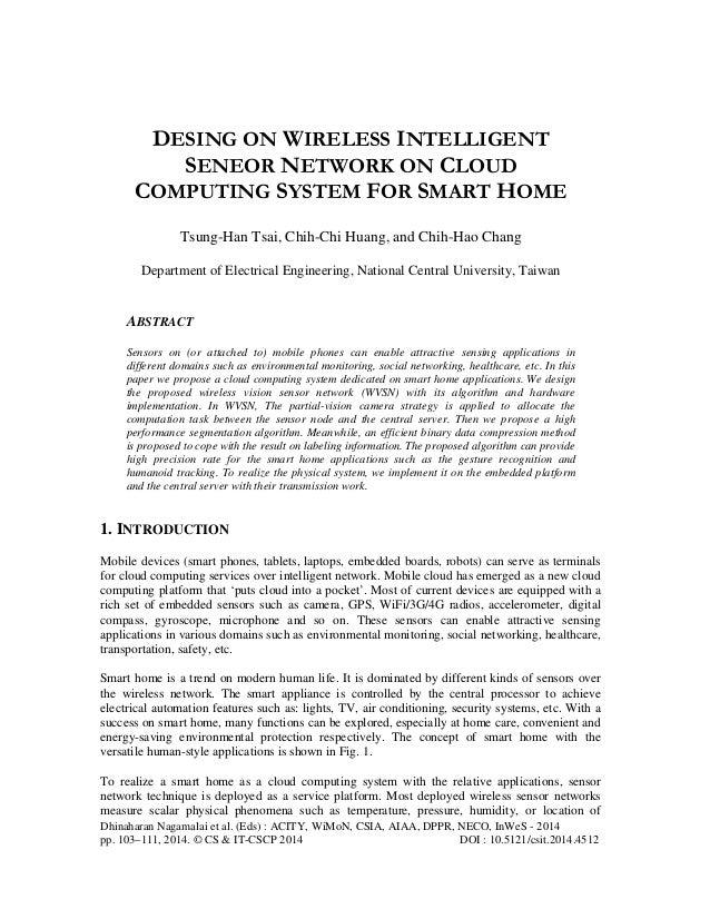 Dhinaharan Nagamalai et al. (Eds) : ACITY, WiMoN, CSIA, AIAA, DPPR, NECO, InWeS - 2014 pp. 103–111, 2014. © CS & IT-CSCP 2...