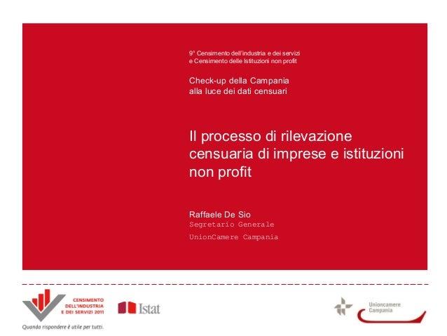Il processo di rilevazione censuaria di imprese e istituzioni non profit 9° Censimento dell'industria e dei servizi e Cens...