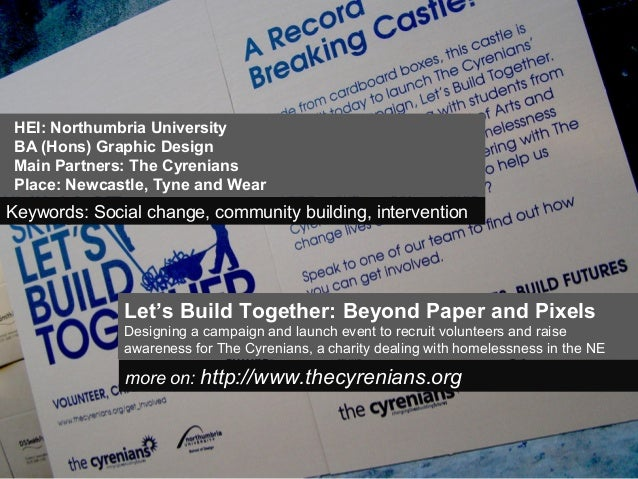 Let's Build Together: Beyond Paper and PixelsDesigning a campaign and launch event to recruit volunteers and raiseawarenes...