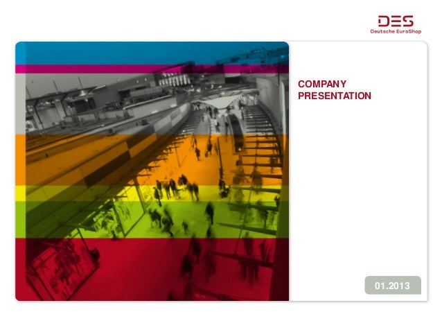 Deutsche EuroShop | Company Presentation | 01/13