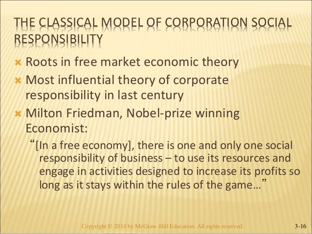 milton friedman and the archie carroll approaches to the responsibilities of business