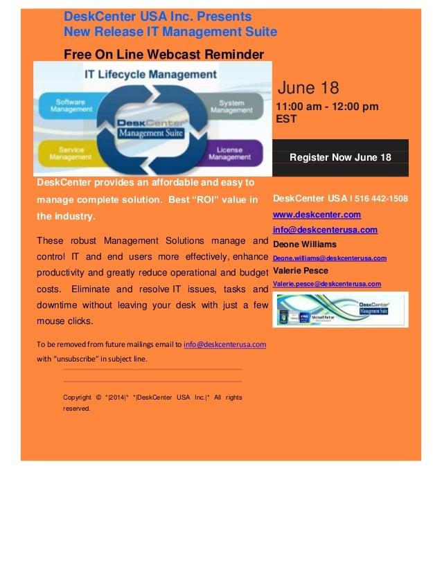 IT Management Webcast