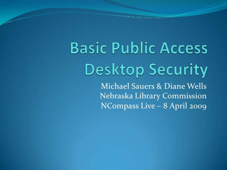 NCompass Live: Setting Up Your Public Access Computers