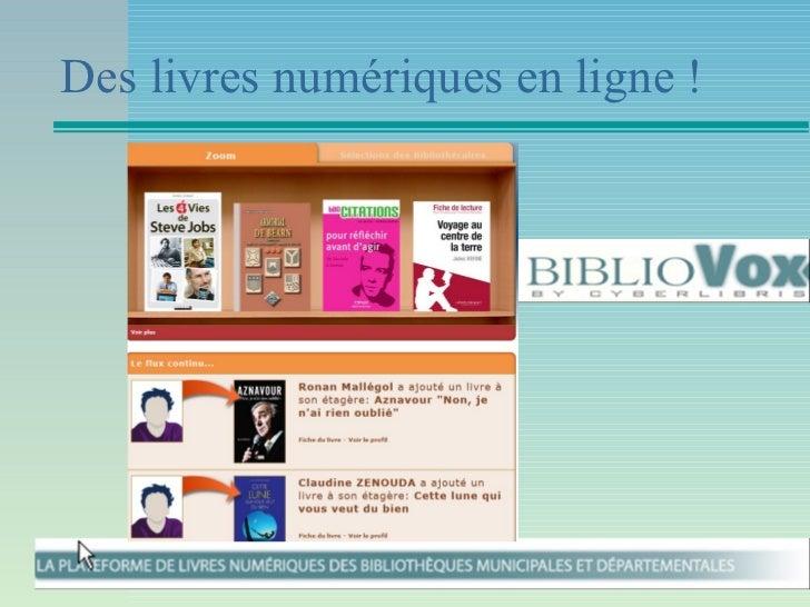 Des livres numériques en ligne !