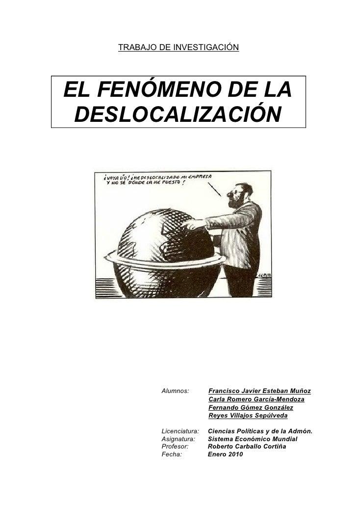 Deslocalización y Globalización