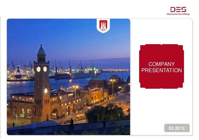 Deutsche EuroShop | Company Presentation | 03/13 (Preliminary Results)