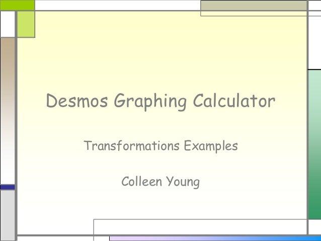 Desmos graphing calculator   transformations