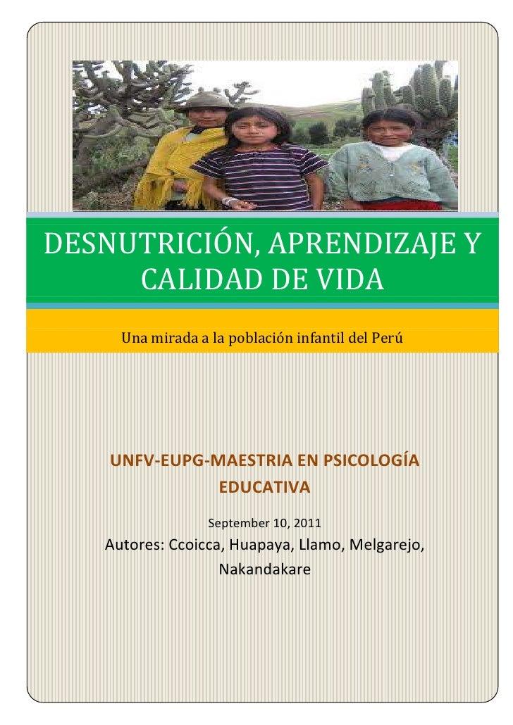 UNFV-EUPG-MAESTRIA EN PSICOLOGÍA EDUCATIVASeptember 10, 2011Septiembre 10, 2011Autores: Ccoicca, Huapaya, Llamo, Melgarejo...