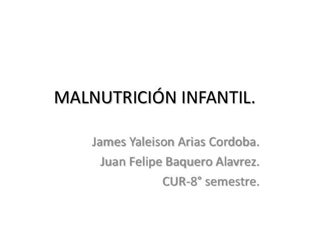 Desnutricion y obesidad en pediatria